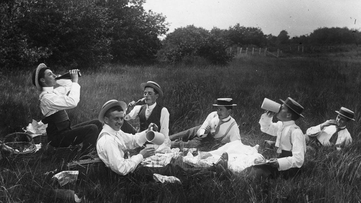 English Men Having A Picnic